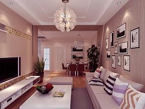 精美面积89平混搭二居客厅装修图片