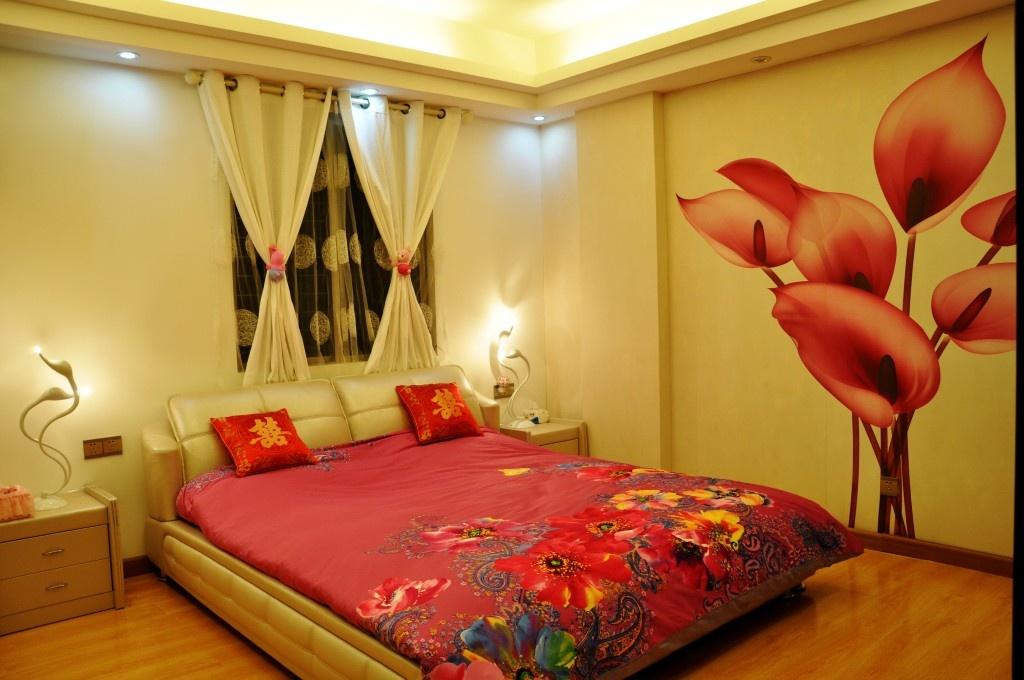 卧室飘窗个性台灯吊顶装修效果图片