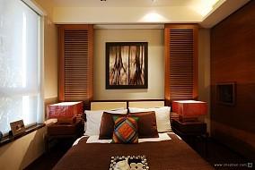 混搭卧室隐形门装修效果图