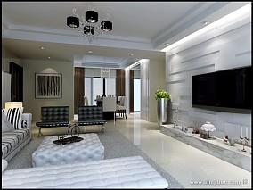 73平米简约公寓休闲区效果图片大全