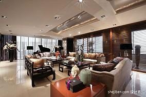 2018107平米三居客厅东南亚装修效果图
