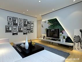现代简约风格相片墙装修效果图