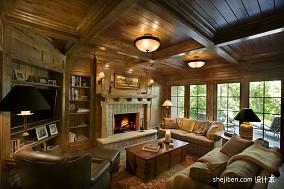 精美139平米美式别墅客厅装修效果图片