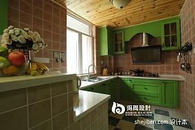 76平米美式小户型厨房装修欣赏图