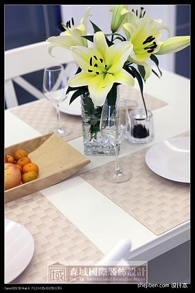 儒雅简中式家装餐厅