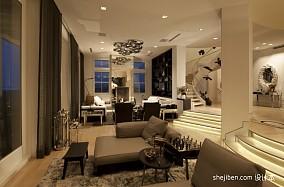 精美面积125平别墅客厅混搭装修效果图片欣赏