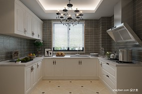 105平米三居厨房欧式装修设计效果图