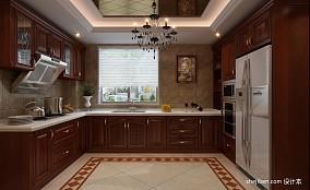 108平米三居厨房美式装修实景图片