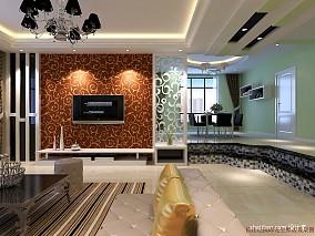 2018精选面积123平混搭四居客厅设计效果图