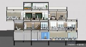正方形客厅设计