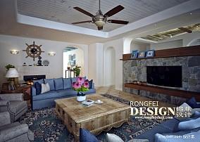 热门地中海四居客厅装修设计效果图片大全