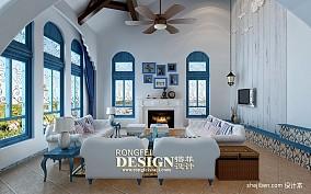 精美面积130平别墅客厅地中海实景图片欣赏