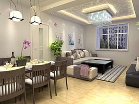 新中式仿古屏风客厅装饰