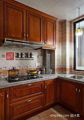 热门面积90平混搭三居厨房装饰图片大全