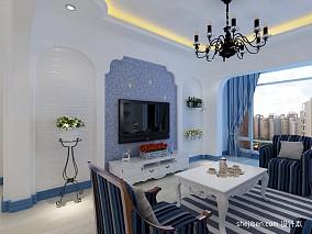 热门面积89平混搭二居客厅装修图