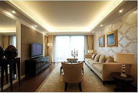 面积107平欧式三居客厅装修实景图片大全