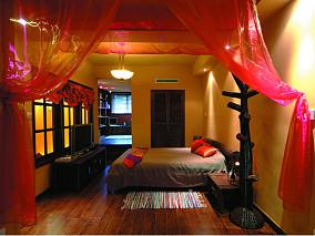 热门面积132平别墅卧室东南亚实景图片大全