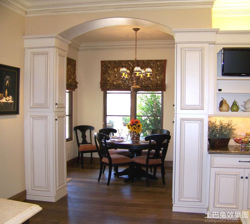 small hallway closet ideas - 方形罗马柱拱形门图片 土巴兔装修效果图