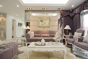 热门面积98平欧式三居客厅装修实景图