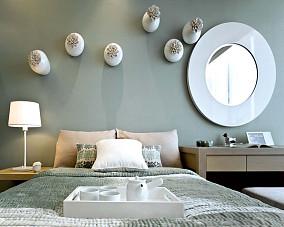 中西混搭卧室创意背景墙装修效果图