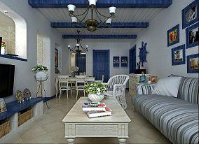 地中海风格客厅茶几装修效果图