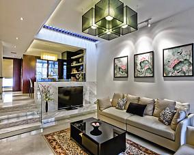 201876平米二居客厅中式装修设计效果图片大全