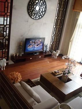 精选136平米中式复式客厅装修效果图
