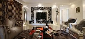 精美面积98平欧式三居客厅装修实景图