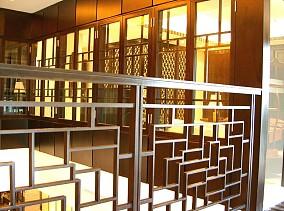 中式混搭风格楼梯过道扶手图片