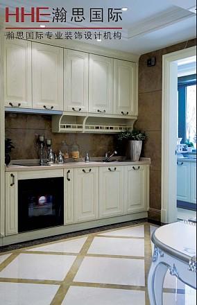 欧式风格厨房拼花地板装修效果图