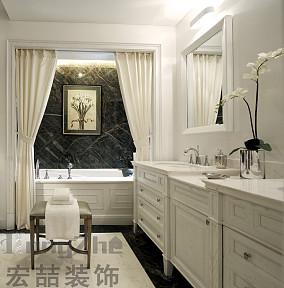 白色欧式卫生间装修效果图欣赏