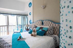 地中海风格卧室装修效果图2014
