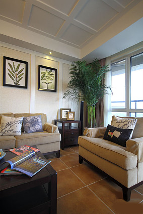 精美美式小户型客厅装修实景图片大全