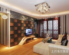 73平米二居客厅北欧装饰图