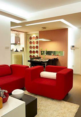 热门面积80平小户型休闲区现代装修实景图片