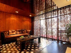 现代风格客厅窗帘图片