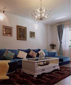 混搭风格小户型客厅创意吊灯图片欣赏