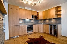 L型厨房实木橱柜效果图大全