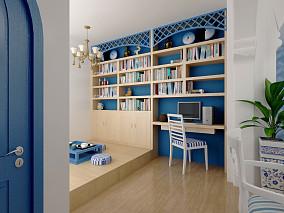 地中海风格书房设计