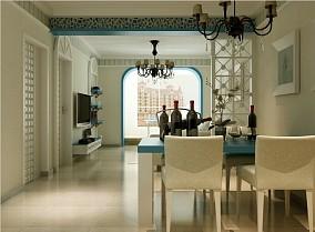 小户型餐厅地中海装饰图片大全