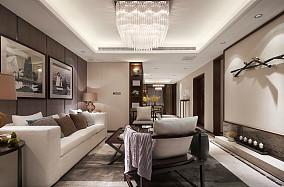 热门面积77平新古典二居客厅效果图