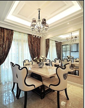 热门新古典二居餐厅装修实景图