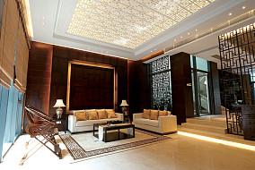 126平米中式别墅休闲区装修效果图片大全
