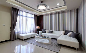 精美面积84平小户型客厅现代装修实景图
