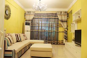 精美90平米东南亚小户型客厅装修实景图片