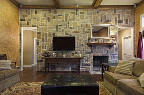 73平米美式小户型休闲区装修设计效果图片