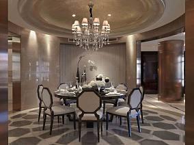 143平米新古典别墅餐厅设计效果图