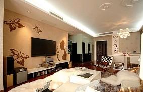 简约现代风格客厅电视背景墙装修图片