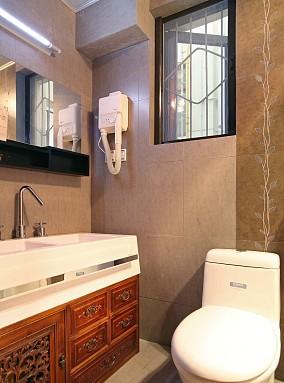 小户型卫生间中式效果图片欣赏