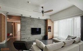 简约家居客厅电视背景墙装修效果图片